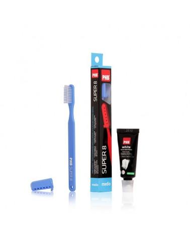 Pack Cepillo PHB® super 8 medio + mini pasta 15ml
