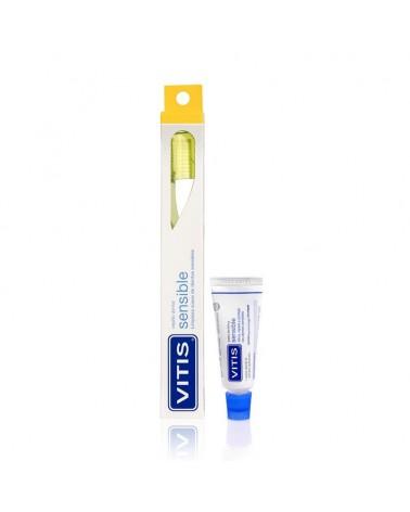 Pack Cepillo VITIS® sensible + mini pasta 15ml