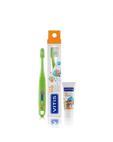 Pack Cepillo VITIS® kids + mini pasta 8ml